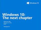 米MS「Windows 10」イベントを1月21日に開催 - 一般向け機能を披露