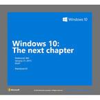 米MS、「Windows 10」イベントを1月21日に開催 - スマホ関連情報にも期待