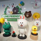 LINEの公式ストア「LINE FRIENDS STORE」が13日、原宿にオープン - 39万円のスワロフスキー製フィギュアも