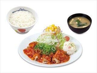 松屋フーズ、「松屋」で中華味シリーズ「鶏のチリソース定食」を発売
