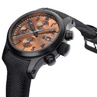 フォルティス、配色にこだわった腕時計「ブルーホライズン クロノグラフ」