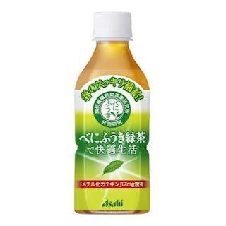 アサヒ飲料、持ち歩きに便利なPET350ml「べにふうき緑茶で快適生活」発売
