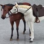 グッスマ国内工場第2弾商品は『figma馬』、figmaを乗せられる白&茶の国産馬