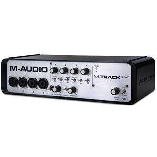 24bit/96kHz対応USBオーディオMIDIインタフェース「M-AUDIO M-Track Quad」