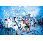 千葉県千葉市で、泡まみれで走る「バブルラン」開催