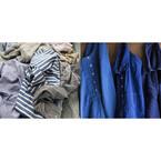 無印良品天神大名で「藍色」に染め直したリサイクル衣類を限定販売