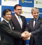 日本マイクロソフト、現社長・樋口氏と新社長・平野氏が会見