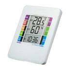サンワサプライ、インフルエンザの警戒度を表示するデジタル温湿度計