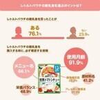 毎日の離乳食作り、苦労してない? - 実は●%のママがレトルト離乳食を購入