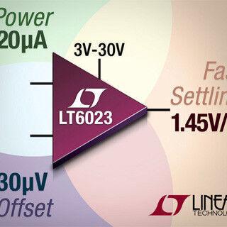 リニアテクノロジー、デュアルオペアンプ「LT6023」の販売を開始