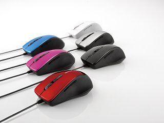 バッファロー、静音スイッチを搭載したBlueLED / 光学センサ搭載マウス