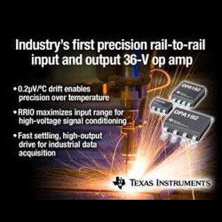 TI、全温度範囲5μVのオフセット電圧を実現したFA機器向けオペアンプを発表