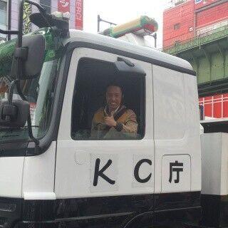 筧利夫が『パトレイバー』輸送車両で都内回遊!「ここからが勝負」と映画を宣伝