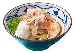 丸亀製麺、さっぱり豚しゃぶマリネを乗っけた「豚マリぶっかけ」新発売!