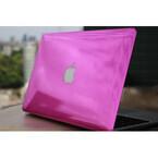 Macbookの着せ替えサービス - ボディがピンクの鏡面仕上げに