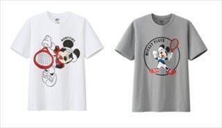 ユニクロ、ミッキーが錦織圭選手や国枝慎吾選手ポーズ! 新Tシャツ発売