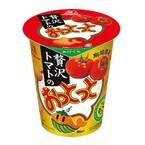 森永製菓、どっしりトマトの濃さが味わえる「贅沢トマトのおっとっと」発売