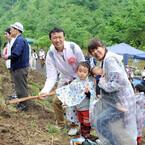 ピジョン、赤ちゃん誕生記念の植樹イベントを開催