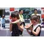 いち早い夏を! 千葉県で「富里市すいかまつり」開催 - 試食やゲームも