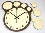 肉球デザインの壁掛け時計が販売中