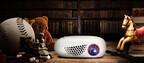 LGエレクトロニクス、曲線デザインの小型LEDプロジェクタ「Minibeam Nano」