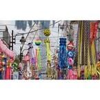 東京都台東区で「下町七夕まつり」開催! 警視庁白バイ隊のパレードも