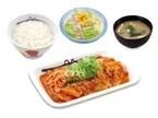 松屋、豚バラ肉を増量した夏の定番「豚キムチ定食」発売