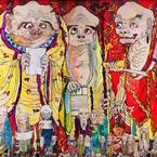 東京都・六本木で、村上隆の個展 - 超巨大絵画「五百羅漢図」を日本初公開