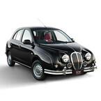 光岡自動車、富山の伝統工芸品とコラボした「ビュート トヤマ」を発表