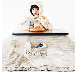 コタツが丸ごと猫になる! モフモフ猫カバーと猫座布団が発売