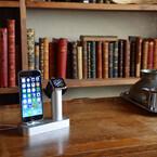 サンコー、iPhoneとApple Watchを同時に充電できるアルミ製充電スタンド