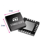 ST、最高125℃での動作に対応する8bitマイコンを発表