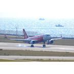 新生エアアジア・ジャパン、初号機エアバスA320が中部空港に到着