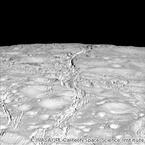 NASA、土星の衛星エンケラドスの北極周辺の画像を公開