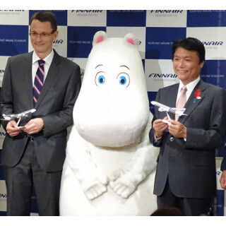 フィンエアー、2016年5月より週3往復で福岡線就航 - ムーミンや知事も祝福