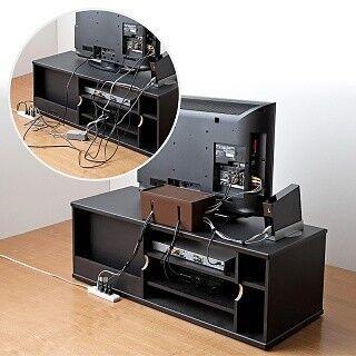 サンワサプライ、お部屋をすっきりできる大容量ケーブル収納ボックス