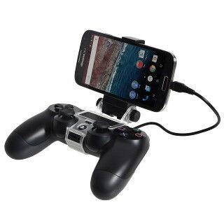PS4コントローラーにスマホ固定できるホルダー