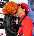 ざわちん、公の前で上島竜兵とまさかのキス! 「肌触りが良かった」