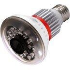 LED電球で監視カメラをカモフラージュ