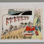 京都府・烏丸御池にて、漫画家・望月三起也氏の代表作「ワイルド7」原画展