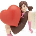 キューピッド「コップのフチ子」バレンタインに降臨、おさげがハート型に