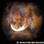 慶大、天の川銀河で2番目に大きなブラックホールの痕跡を発見