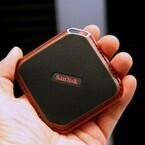 サンディスク、薄くて小さなポータブルSSD - 防滴・防塵モデルも用意