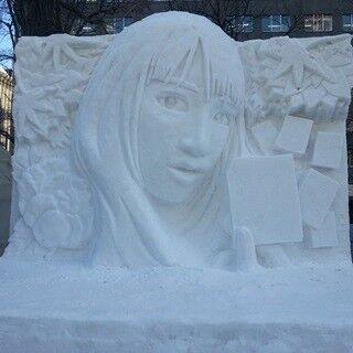 """広瀬すず、雪まつりで""""3メートル雪像""""に変身!「すごくうれしい」"""