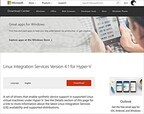Microsoft、Linux Integration Services 4.1をリリース
