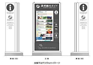 高松市にWEBサイトと連携した観光情報発信デジタルサイネージ - NEC