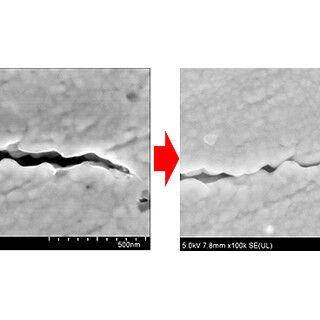 阪大とデンソー、SiCパワー半導体用接合材の亀裂が自己修復する現象を発見