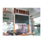 東急、バス車内のサイネージ実証実験
