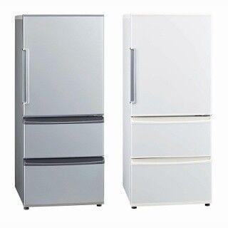 アクア、大きめのオーブンレンジも置けるユニバーサルデザインの冷蔵庫