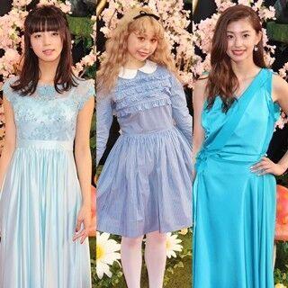 池田エライザ・朝比奈彩・ぺこ、アリス風衣装で魅了! 日本一美しい女子大生も